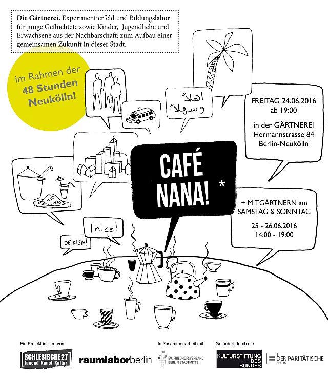24.06., 19.00 Uhr | Café Nana Nr. 7 | Auftakt 48 Stunden Neukölln