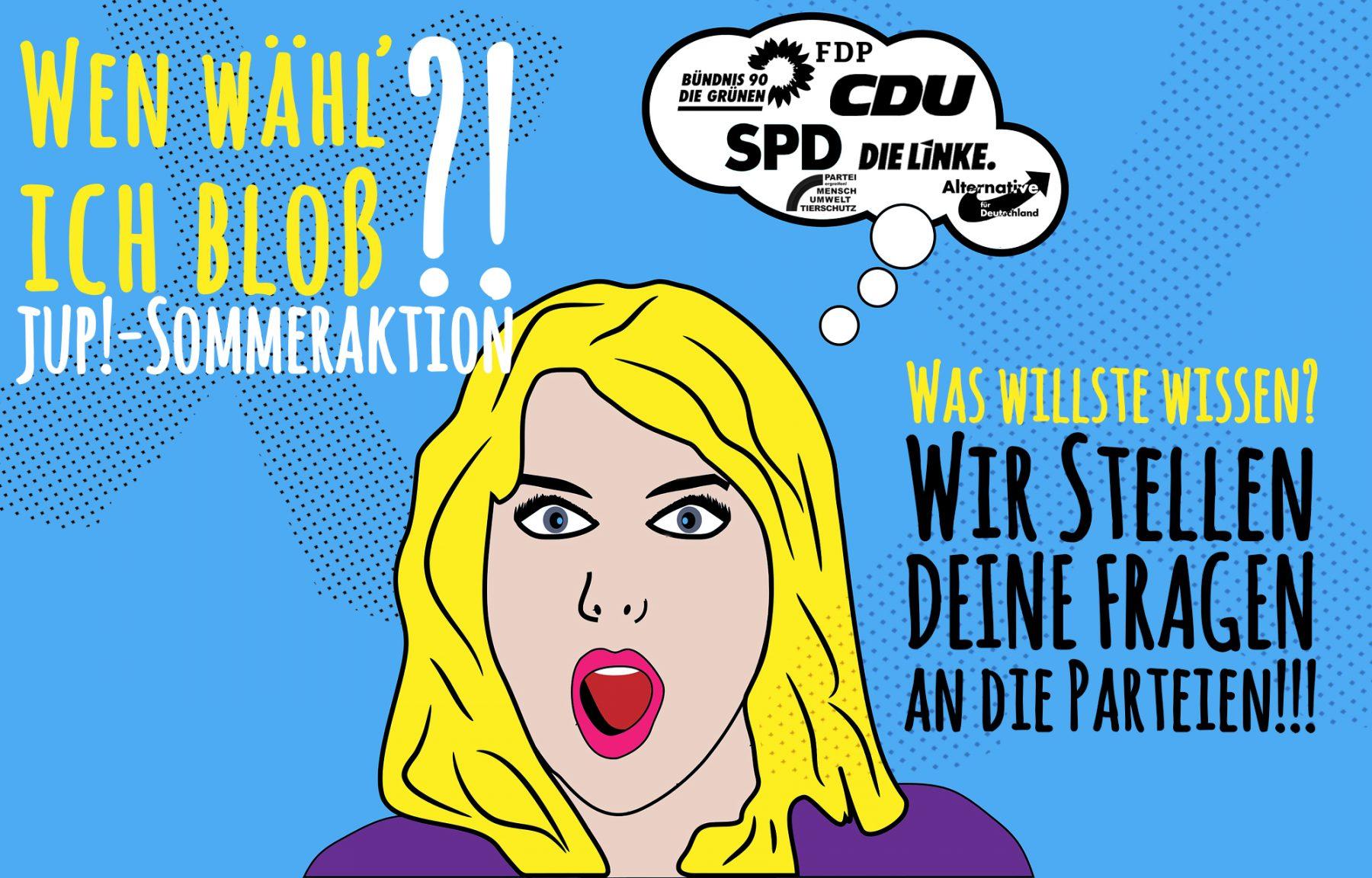 """""""Wen wähl' ich bloß?"""" – Am 2.8. startet die große jup!-Sommeraktion"""