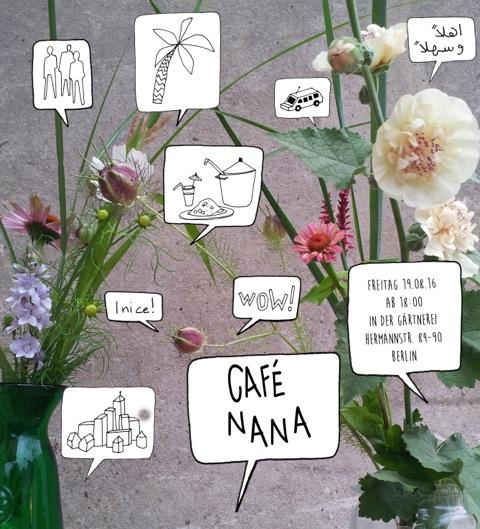 Einladung zum Café Nana am 19.8.