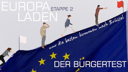 Einladung zur Theaterperformance »Der Bürgertest« am 6. Mai