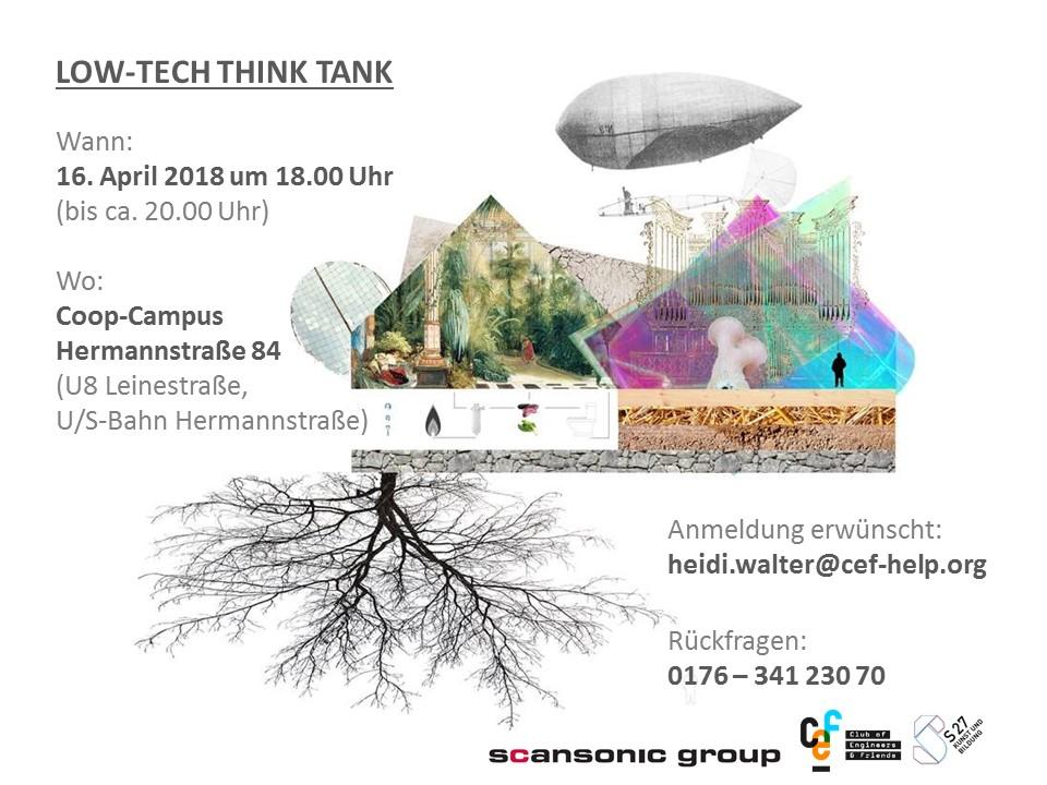 Einladung zum Low Tech-Think Tank