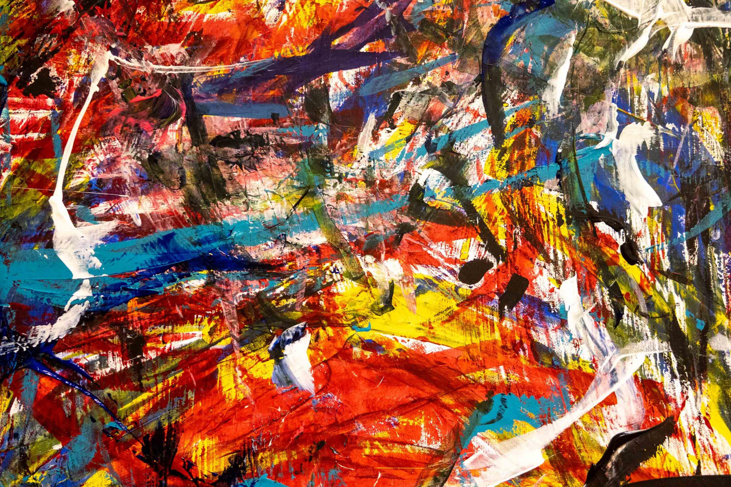 Abstrakte Malerei in den Räumen unserer »macherei«